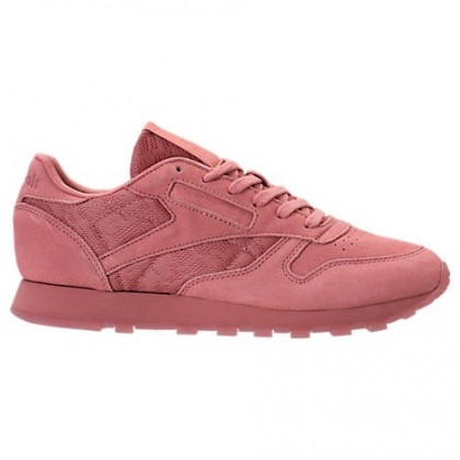 Reebok Classic Leder Gummi Damen Schuhe Bs6523 Im Sandig Rose/Weiß