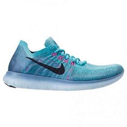 Arbeit Blau/Dunkel Hell Schwarz Frauen Nike Free Rn Flyknit Schuhe 880844 400