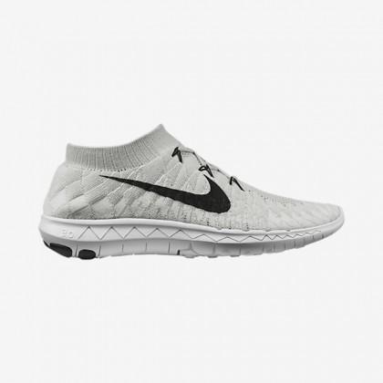 Nike Free 3.0 Flyknit Herren Grau Weiß/Weiß/Volt/Schwarz Schuh