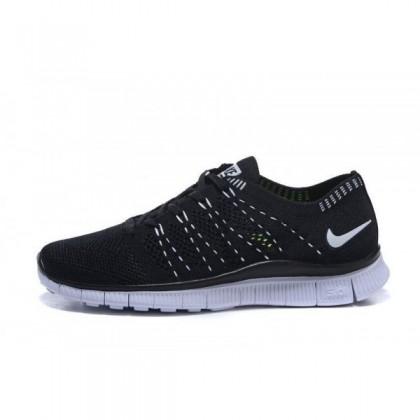Damen/Herren Nike Free Flyknit Nsw Schwarz/Weiß Sneaker