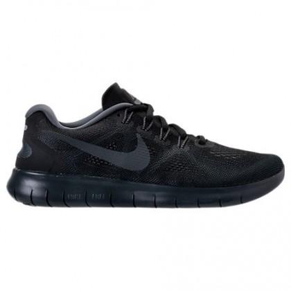 Damen Schwarz/Fluoreszierend Grün/Dunkel Grau/Cool Grau Nike Free Rn 2018 Schuhe 880840 003