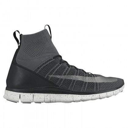 Herren Nike Free Flyknit Mercurial Schuh 05554004 - Dunkel Grau/Schwarz/Gipfel Weiß/Silber
