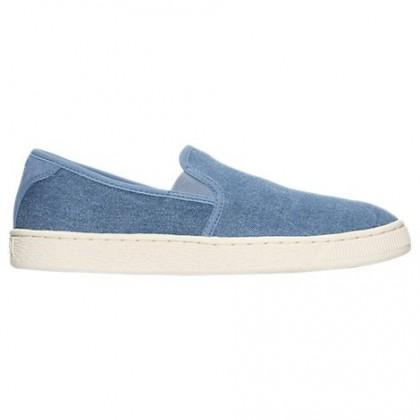Puma Korb Klassisch Denim Männer Denim Blau Slip-On Schuhe 36342402
