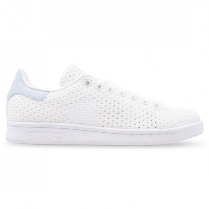 Adidas Originals Stan Smith Stricken Frauen Weiß/Blau S82257