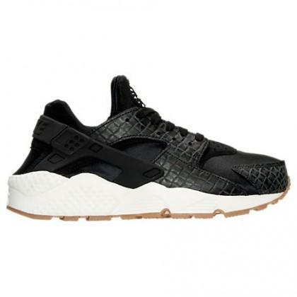 Nike Air Huarache Run Premium Damen Sneaker 683818 011 Schwarz/Beige/Gummi Mittel Braun