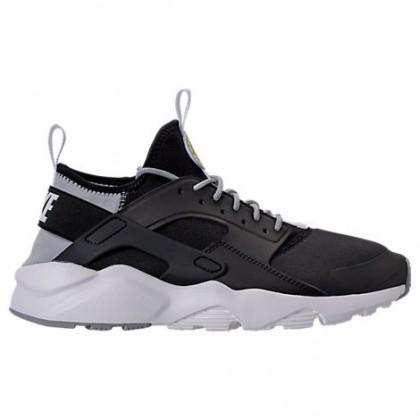 Schwarz/Weiß/Wolf Grau Herren Nike Air Huarache Run Ultra Schuhe 819685 014