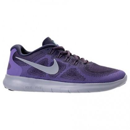 Nike Free Rn 2018 Dunkels Lila/Grau Weiß/Lila Damen Sneaker 880840 500