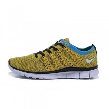 Frauen/Männer Nike Free Flyknit Nsw Gelb/Blau/Schwarz Schuhe