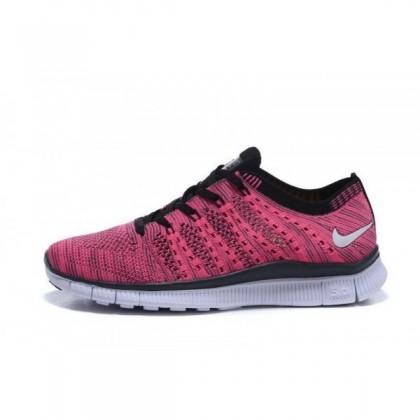 Damen Nike Free Flyknit Nsw Rose Rot/Schwarz Schuh