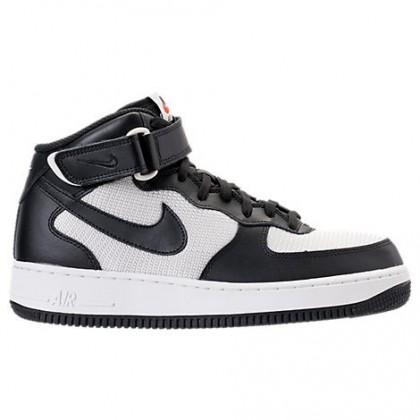 Herren Nike Air Force 1 Mitte Schwarz/Gipfel Weiß Schuhe 315123 037