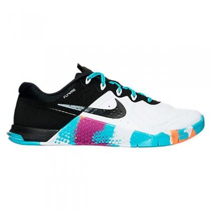 Damen Nike Metcon 2 Weiß/Schwarz/Gamma Blau/Lila Schuh 821913-102