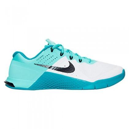 Nike Metcon 2 Schuh - Damen Weiß/Schwarz/Hyper Turq/Energie 821913-101