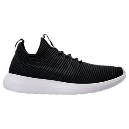 Männer Nike Roshe Two Flyknit V2 Schuh 918263 002 - Schwarz/Fluoreszierend Grün/Weiß