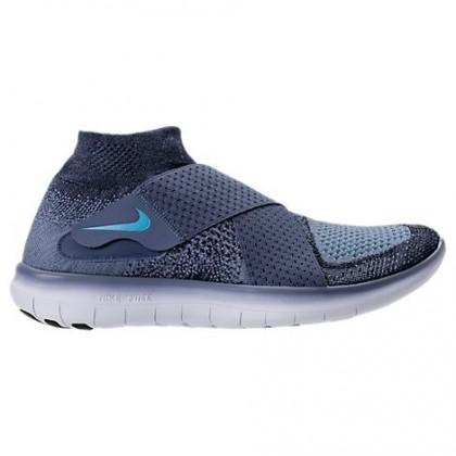 Ozean Blau/Gelb-Grün Blau/Blau Tint Herren Nike Free Rn Motion Flyknit Sneaker 880845 400