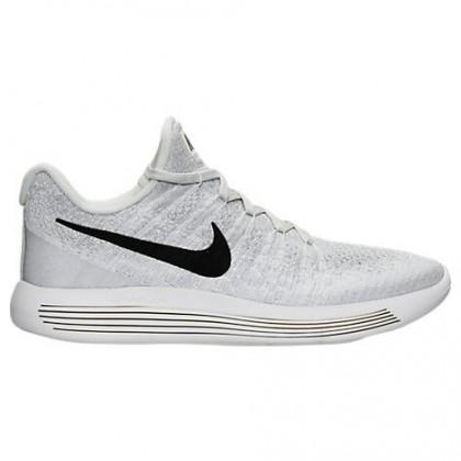 Damen Nike Lunarepic Low Flyknit 2 Weiß/Schwarz/Grau Weiß/Wolf Grau Schuh 863780 100