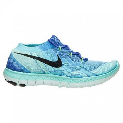 Nike Free 3.0 Flyknit Damen Schuhe Zum Universität Blau/Violett/Schwarz