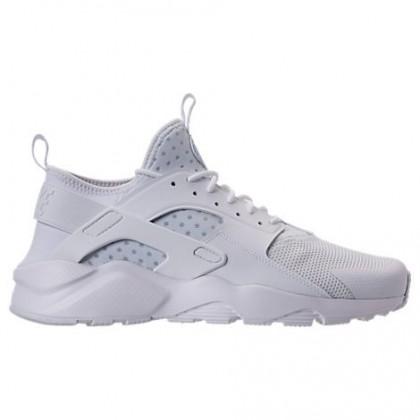 Männer Nike Air Huarache Run Ultra Schuhe 819685 101 Verdreifachen Weiß