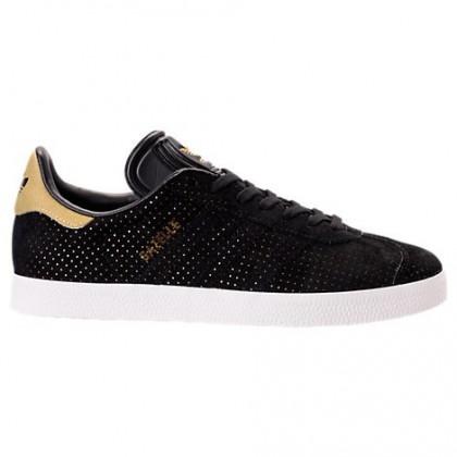 Frauen Adidas Gazelle Schuhe By9364 - Kern Schwarz/Weiß/Gold Metallisch