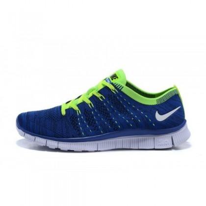 Nike Free Flyknit Nsw Damen/Herren Blau/Volt Schuhe