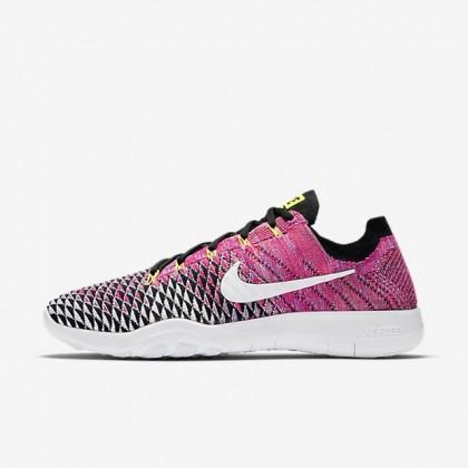 Nike Free Tr Flyknit 2 Schwarz/Volt/Rosa Mortal/Weiß Damen Schuhe