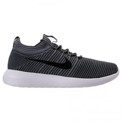 Dunkel Grau/Schwarz/Cool Grau Herren Nike Roshe Two Flyknit V2 Schuh 918263 001