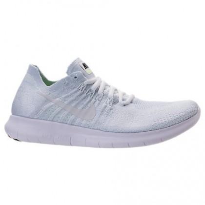 Weiß/Grau Weiß/Schwarz/Volt Damen Nike Free Rn Flyknit Schuhe 880844 100