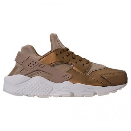 Nike Air Huarache Run Premium Txt Damen Schuhe Aa0523 201 Neutral Olive/Metallisch Feld