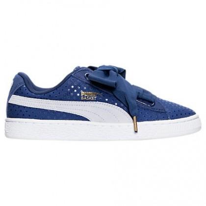 Damen Puma Korb Herz Denim Schuh 36337101 001 Twilight Blau/Halogen Blau