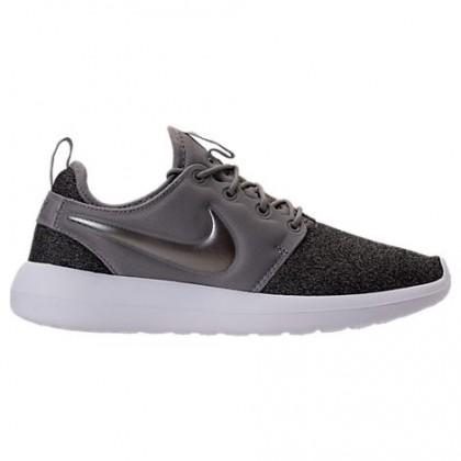 Damen Nike Roshe Two Knit Staub/Metallisch Pewter/Schwarz/Weiß - Schuh Aa1113 003