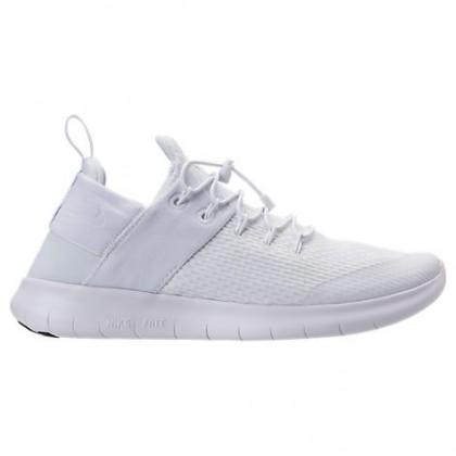 Weiß/Grau Weiß/Dunkel Grau Herren Nike Free Rn Commuter Schuhe 880841 100