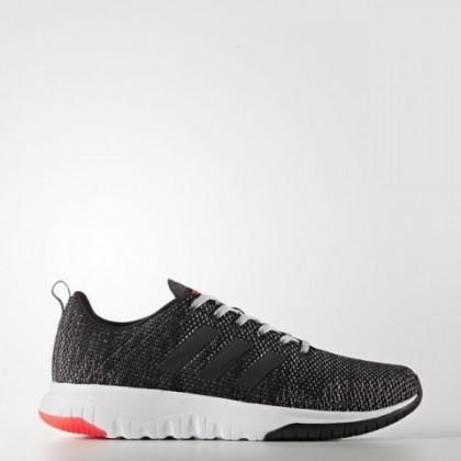 Männer Adidas Neo Cloudfoam Super Flex Schuhe Bb9757 Ader Schwarz/Grau Drei/Solar Rot