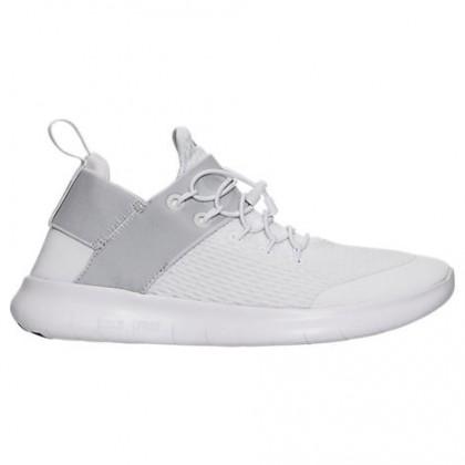 Damen Nike Free Rn Commuter Schuhe 880842 100 Weiß/Grau Weiß/Dunkel Grau