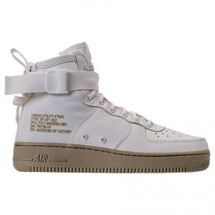 Nike Sf-Af1 Mid Herren Schuh 917753 101 Elfenbein/Neutral Olive