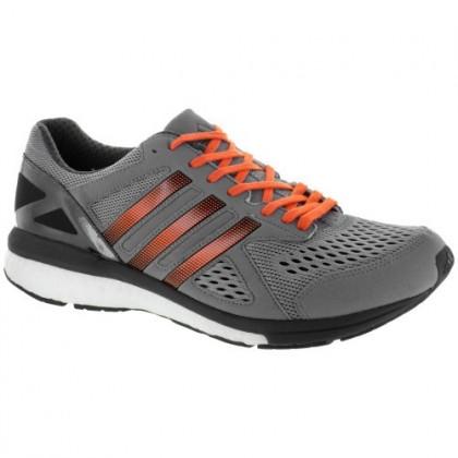 Grau/Schwarz/Energie Orange Adidas Adizero Tempo 8 Männer Schuh