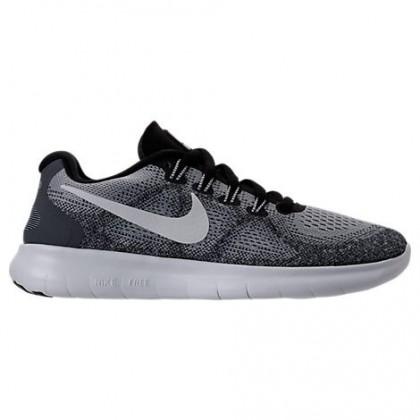 Damen Wolf Grau/Aus Weiß/Grau Weiß Nike Free Rn 2018 Schuhe 880840 002