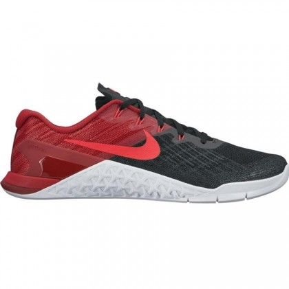 Männer Nike Metcon 3 Schuhe Schwarz/Sirene Rot/Mannschaft Rot/Weiß