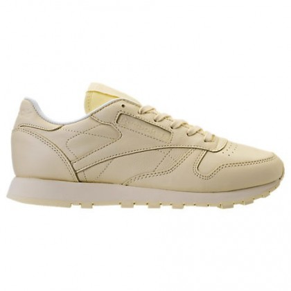 Gewaschen Gelb Frauen Reebok Classic Leder Gummi Schuhe Bd2772