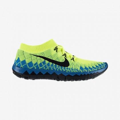 Männer Volt/Neo Türkis/Elektrisch Grün/Schwarz Nike Free 3.0 Flyknit Sneaker