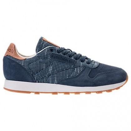 Männer Reebok Classic Leder Ebk Sneaker Bs7851 - Rauchig Indigo/Wolke Grau/Kreide/Gummi