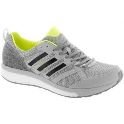 Adidas Adizero Tempo 9 Herren Grau Zwei/Ader Schwarz/Solar Gelb Schuhe