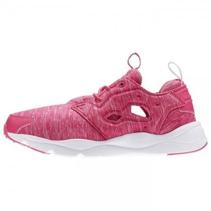 Frauen Reebok Furylite Jersey Klassisch Schuhe Im Rose Rage/Weiß