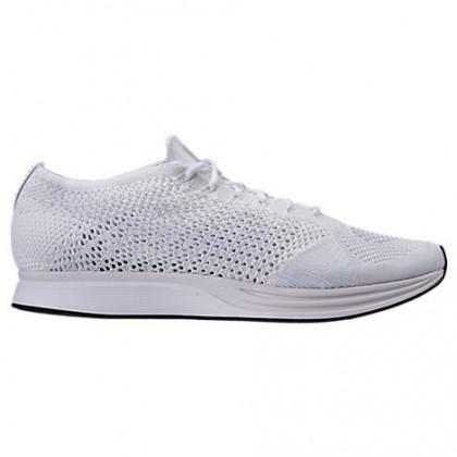 Männer Frauen Nike Flyknit Racer Weiß/Beige/Grau Weiß Sneaker 526628 100