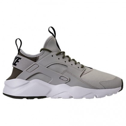 Blass Grau/Schwarz/Ladung Khaki Herren Nike Air Huarache Run Ultra Schuhe 819685 009