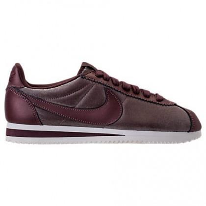 Metallisch Dunkel Rot/Dunkel Rot Damen Nike Cortez Premium Classic Schuhe 905614 900