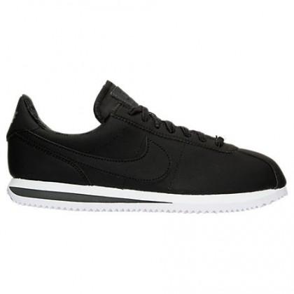 Männer Nike Cortez Basic Premium Sneaker 844791 003 - Schwarz/Fluoreszierend Grün/Weiß