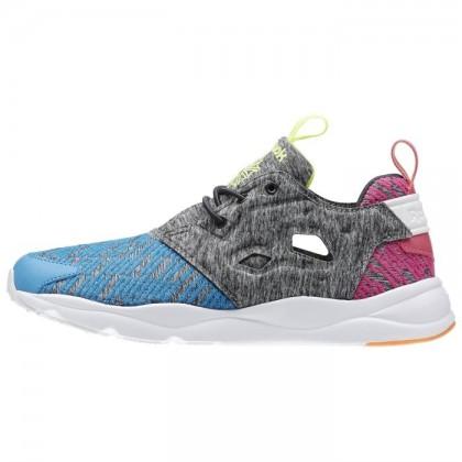 Frauen Reebok Furylite Zeitgenössisch Klassisch Schuhe Kohle/Elektrisch Blau/Dynamisch Rosa/Elektrisch Pfirsich