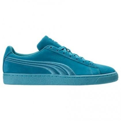 Puma Wildleder Klassisch Badge Herren Schuh 36259410 Blau Atoll