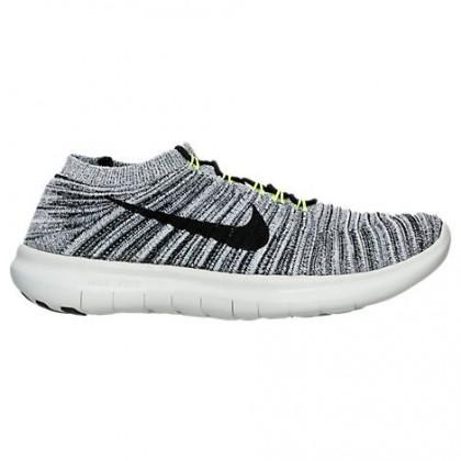 Herren Weiß/Schwarz/Volt/Aus Weiß Nike Free Rn Motion Schuhe 834584 100