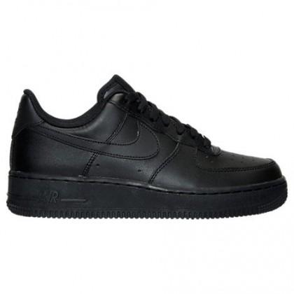 Schwarz/Schwarz Damen Nike Air Force 1 Niedrig Schuh 315115 038