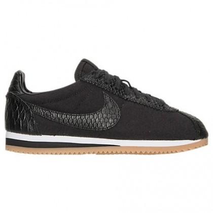 Nike Cortez Se Frauen Schuh 902856 001 Im Schwarz/Weiß/Gummi Gelb